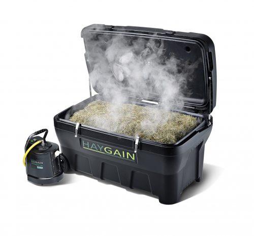 Haygain 2000 Purificateur de foin ouvert avec foin et vapeur - VLC Europe