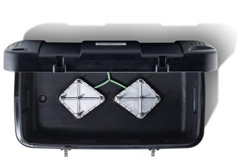 Haygain 2000 Purificateur de foin ouvert vue en hauteur - VLC Europe