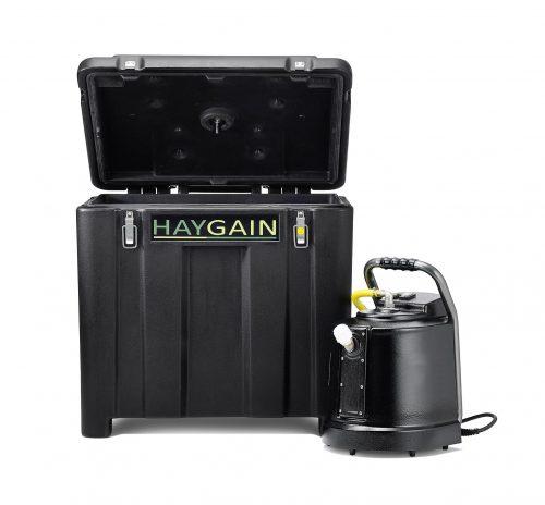 Haygain 600 Purificateur de foin vue de face ouvert - VLC Europepe