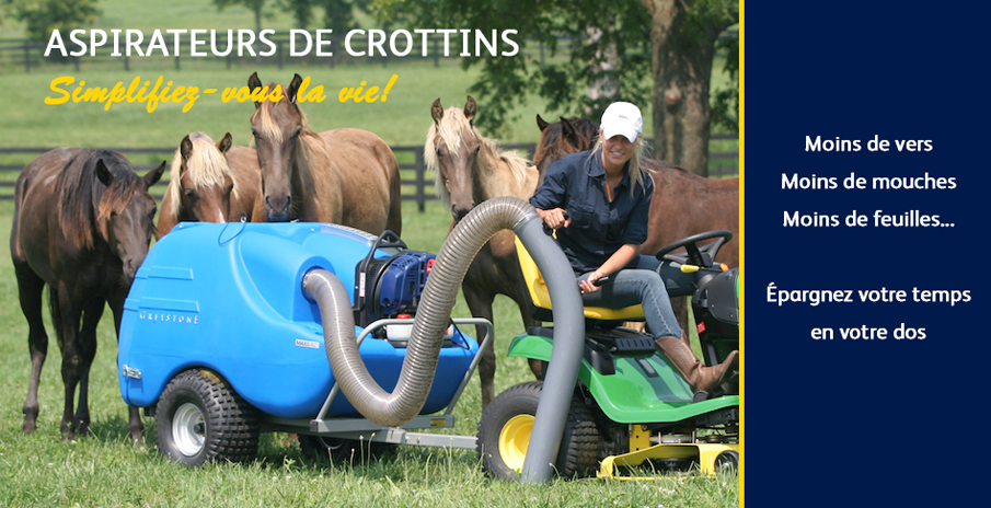 Aspirateur de crottins VLC Europe